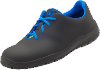 Ladies Black Microfibre ESD shoes with Blue Laces 36-42