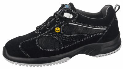 31701 ESD Velours trainer black acc wave insole