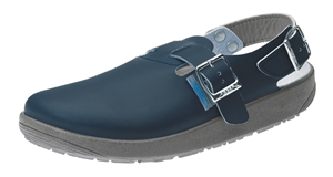 9150 Navy Blue Unisex smooth leather Nursing Clogs