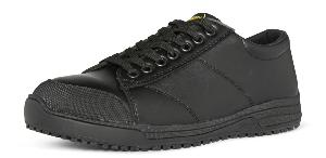 Oregon Black Leather Slip Resistant Sole Anti-static Trainer