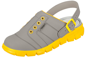 Yellow & Grey nursing clogs operating theatre use