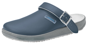 9250 Navy Blue Unisex leather nursing clogs
