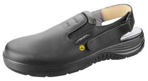 Black ESD Leather Work Clogs with removable insole 7131135