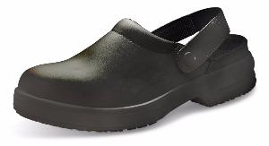 Black Safety Clogs with Heel Strap 200 joule toe caps