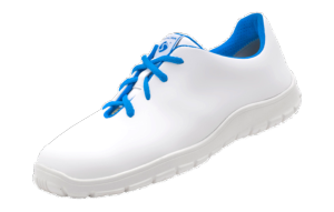 Ladies white & blue ESD Microfibre lace up shoes 36-42
