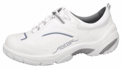 4500 Safety trainer white/grey microfibre seamless upper