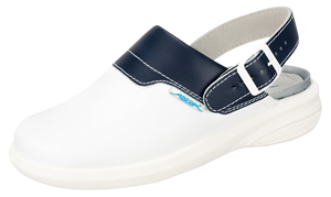 7622 white/blue leather upper