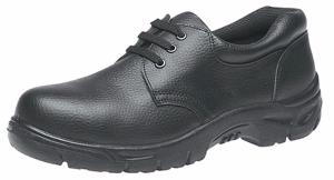 Black Grain Leather lace up safety shoes 3 Eyelets (M530A)