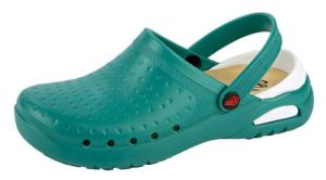 Green Washable Clogs