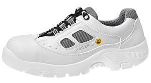 2626 Safety trainer white microfibre uppers acc wave insole