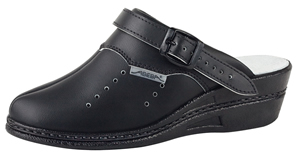 7009 Ladies high clog black perforated (NARROW FIT)