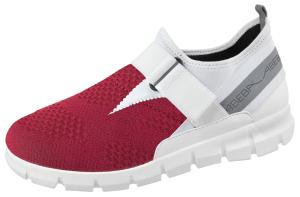 Burgundy Textile Trainers