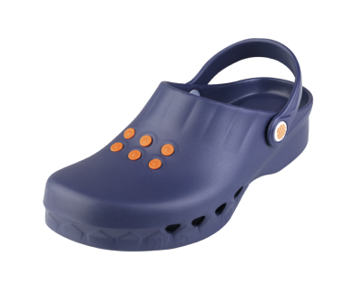 Navy Blue theatre clogs washable to 50c