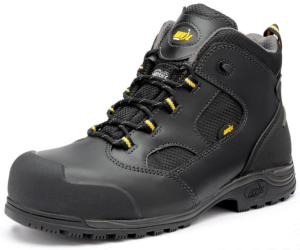 Rockford Black Leather SAFETY Boots Slip Resistant Sole Anti-static