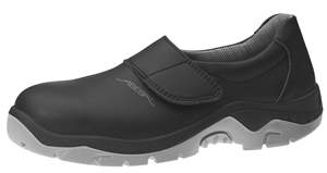 2135 Safety slip on shoe black microfibre uppers
