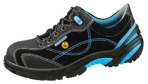 34621 ESD Safety trainers black/blue velours uppers acc wave insole