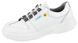 White ESD Smooth Leather Lace up SAFETY Shoe 7131033