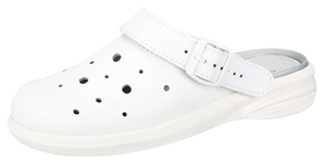 7630 white leather perforated upper