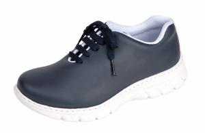 Navy Blue Microfibre Washable Lace up Trainer Style Shoe