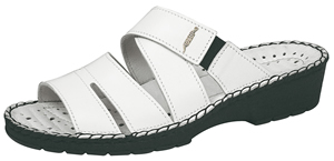 1091 Ladies white leather sandals