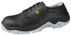 ESD Black Microfibre Lace up Safety Shoes SRC Anti Slip 32136