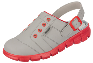 Red & Grey nursing clogs for hospital use