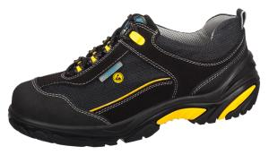 ESD Black Velours Aluminium toe cap safety trainers 34572