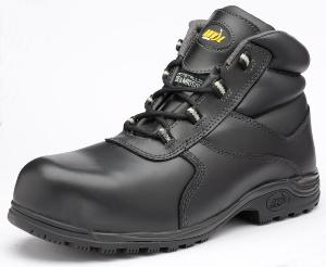 Hartford Black Leather SAFETY Boots Slip Resistant Sole Anti-static