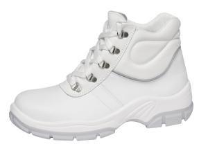White Leather Lace up Safety Boots Shock Absorbing PU Sole 1630