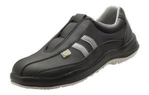 Black ESD Microfibre Sport Safety Shoes anti slip base