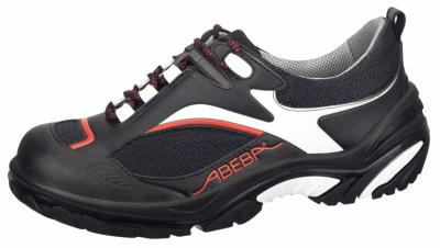 4512 Safety trainer black/red/white microfibre uppers textile inlays