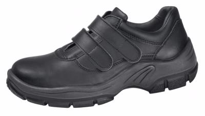 2232 Black safety shoe with fastening straps leather uppers