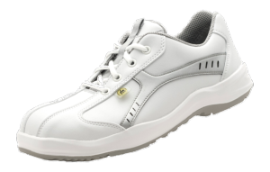 White ESD Microfibre Sport Safety Shoes anti slip base