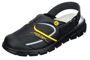 Black & yellow medical clogs for hospital use