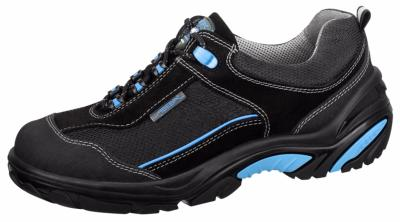 4571Safety trainer black/blue velours uppers