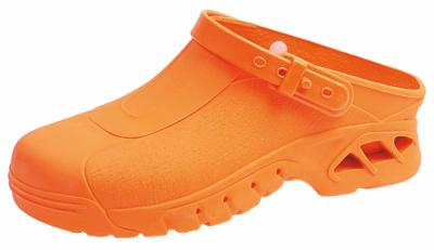 9630 Orange Washable & Autoclavable thermo plastic nursing clogs
