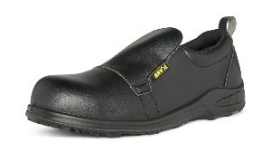 Ontario Black Leather SAFETY Shoes Slip Resistant Sole Anti-static