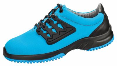 6762 Functional leather trainer blue honeycomb pattern