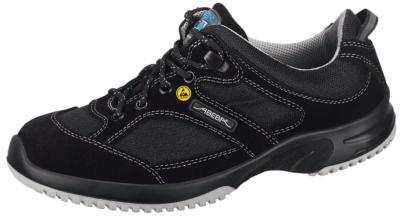 31721 ESD Velour SAFETY trainer black lace up