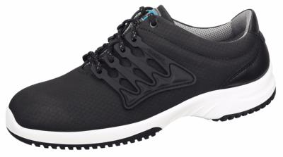 6761 Functional leather trainer black honeycomb pattern