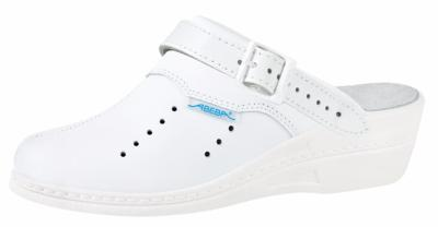 7008 Ladies high clog white perforated (NARROW FIT)