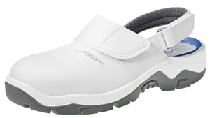 White Microfibre uppers Safety Clogs with removable insole 2120