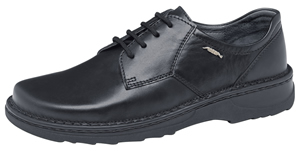 5710 Men's lace up shoe smooth black leather uppers