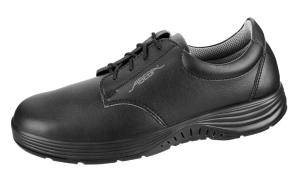 Black Smooth Leather lace up trainer with breathable lining 711127