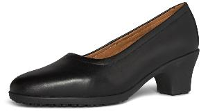 Georgia Ladies Black Leather Slip on Shoe Georgia