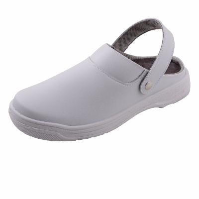 White Microfibre Washable Safety Clogs