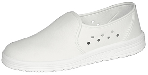 2370 Unisex slip on shoe white (washable) air cushion sole