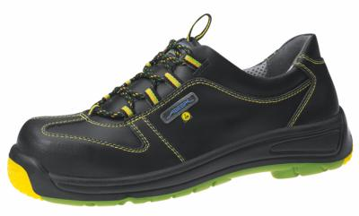 31474 ESD safety lace up shoe black Metal FREE leather upper