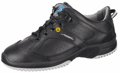 ESD Black leather safety Trainer Breathable lining  31731