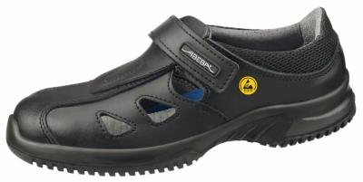 36796 ESD black microfibre shoe with vents & fastening strap